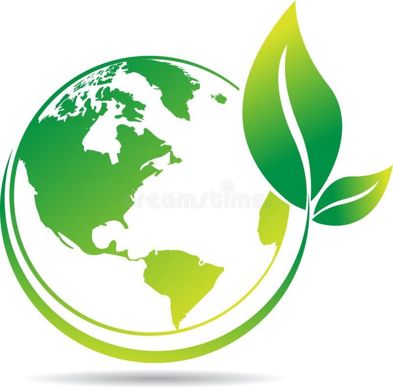 Árbol del globo stock de ilustración