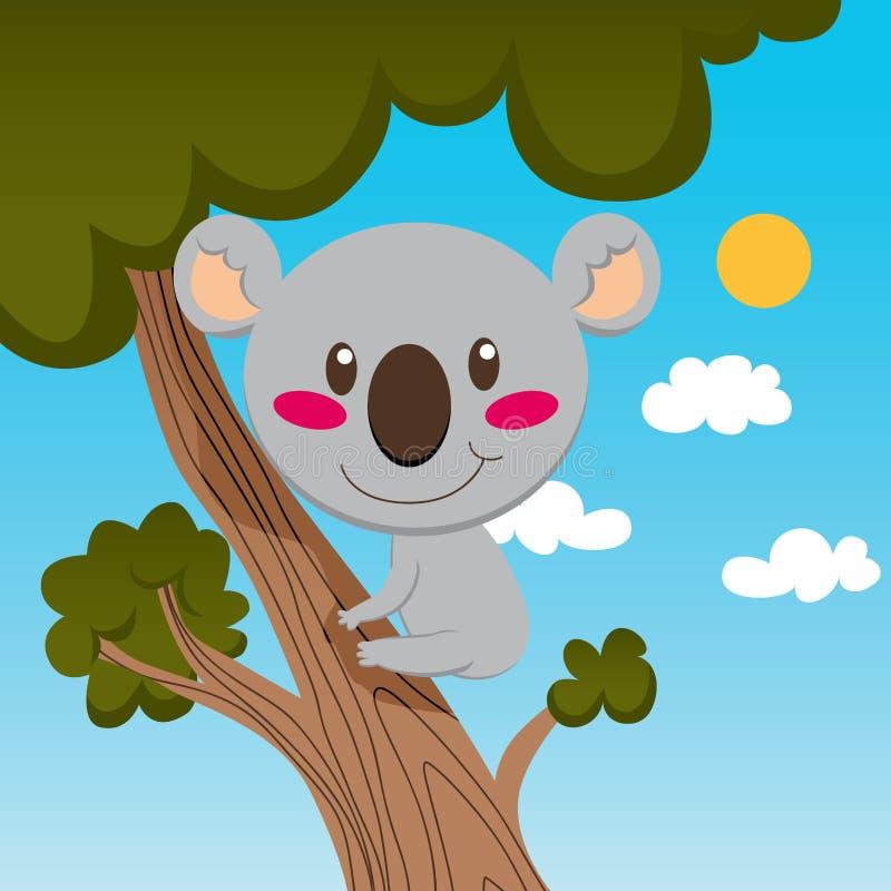 Árbol del Koala ilustración del vector