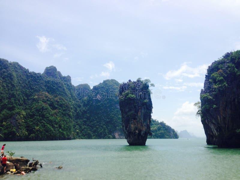 Árbol del mangle de la playa del mar de Tailandia Asia de la isla foto de archivo libre de regalías