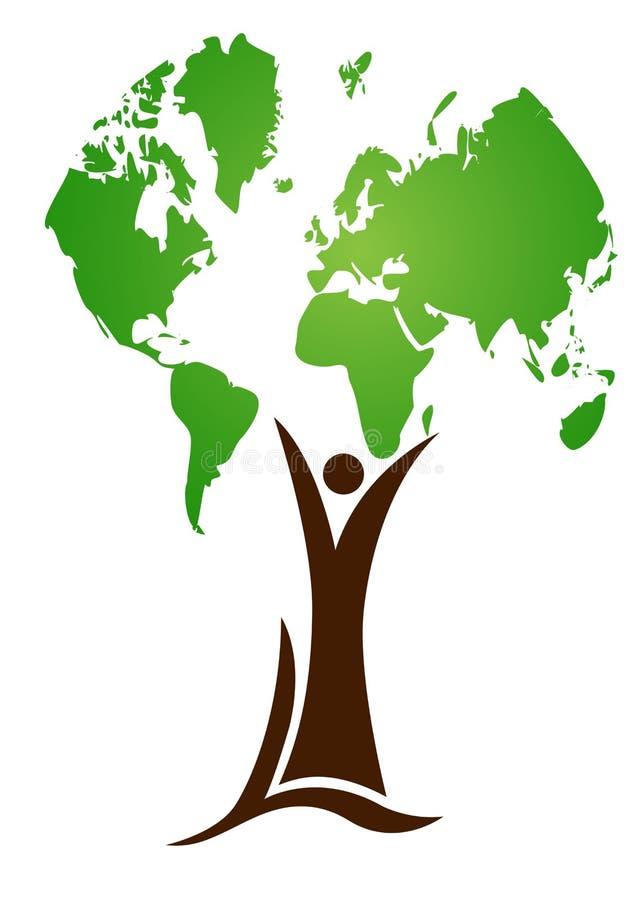 Árbol del mundo stock de ilustración