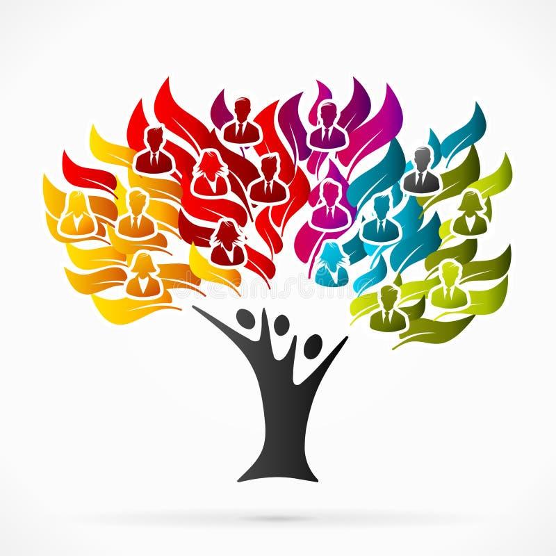 Árbol del negocio ilustración del vector