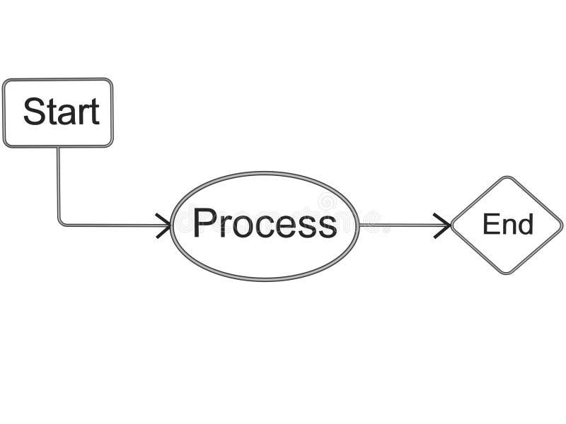 Árbol del organigrama stock de ilustración