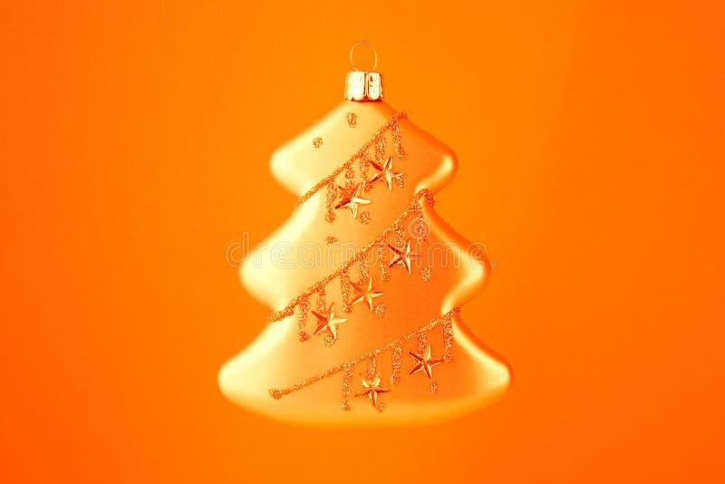 Árbol del oro de la decoración de la Navidad fotografía de archivo libre de regalías