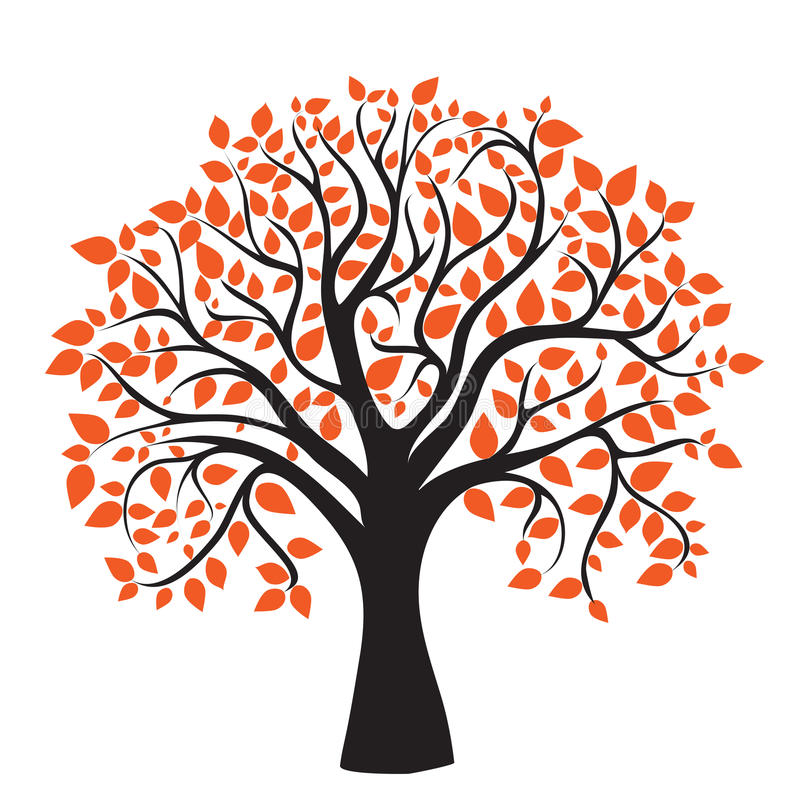Árbol del otoño para su diseño stock de ilustración