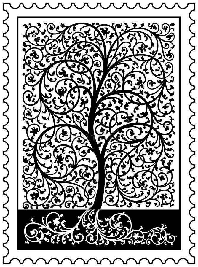Árbol del sello de la vida ilustración del vector