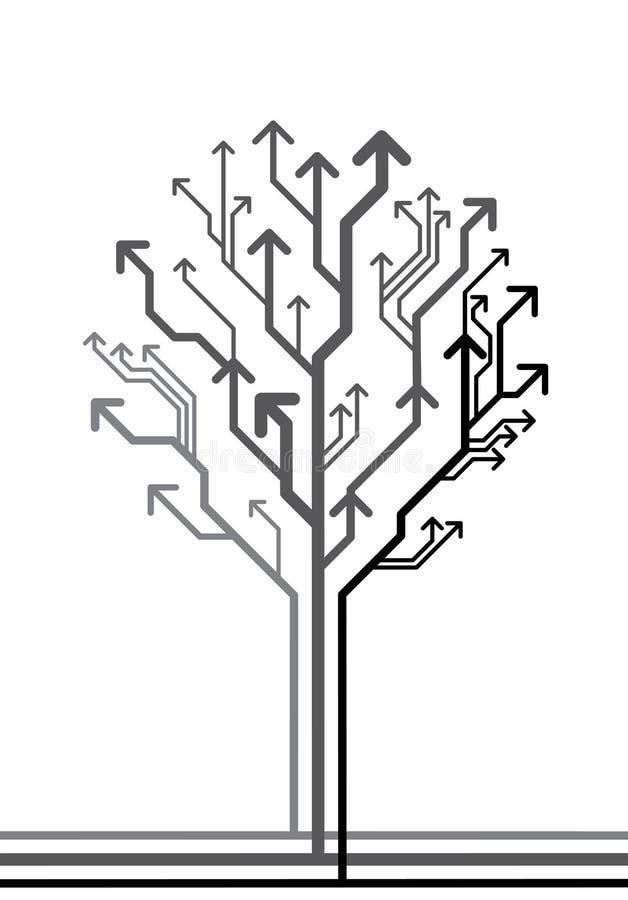 Árbol del vector hecho de flechas ilustración del vector
