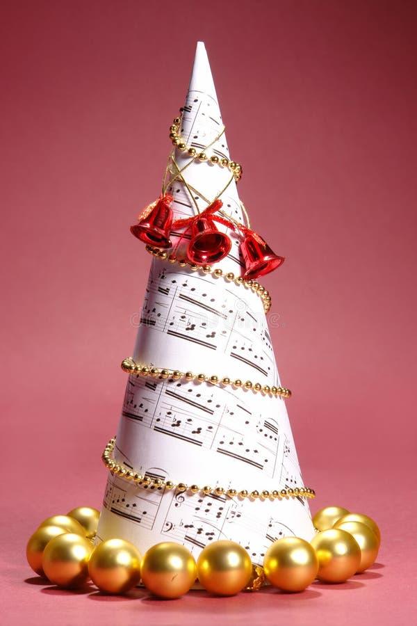 Árbol del villancico de la Navidad fotografía de archivo libre de regalías