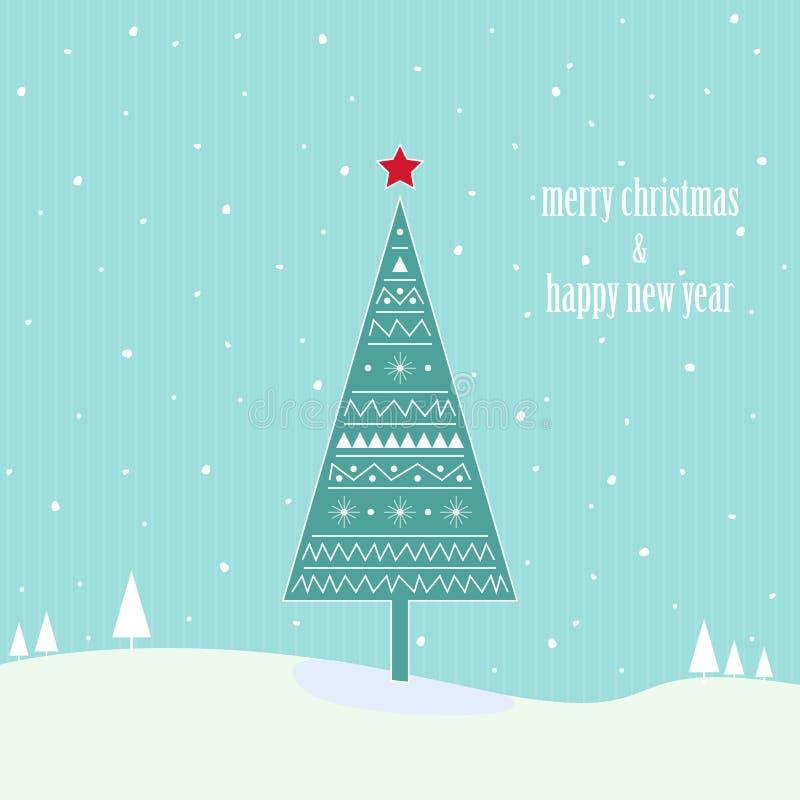 Árbol del vintage de la Navidad libre illustration