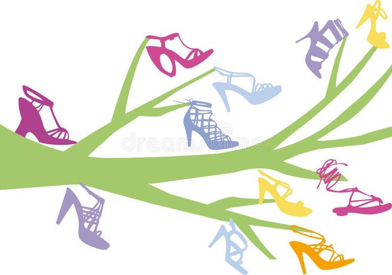 Árbol del zapato stock de ilustración
