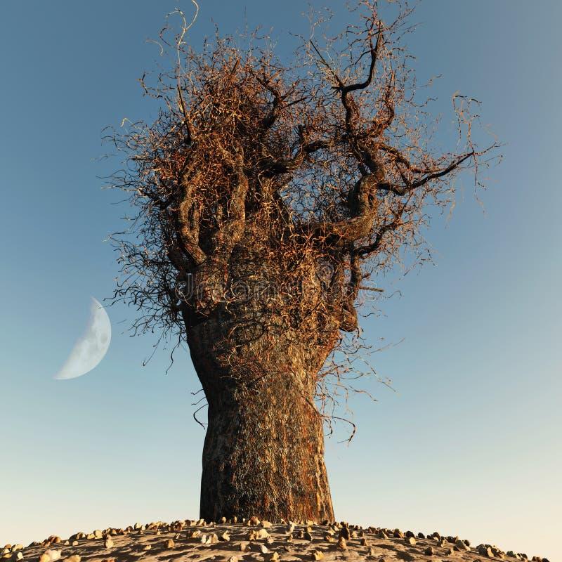 Árbol descubierto solo libre illustration