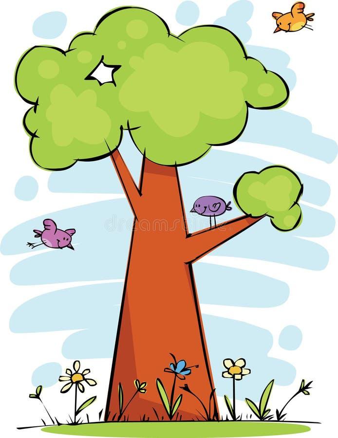 Árbol Divertido Imagen de archivo libre de regalías