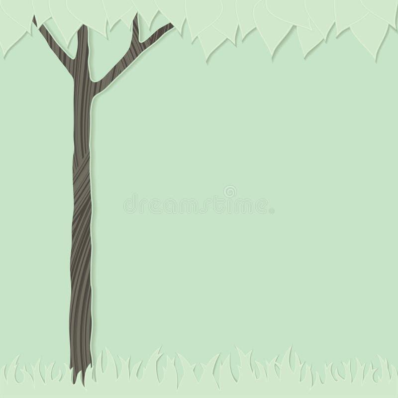 Árbol e hierba stock de ilustración
