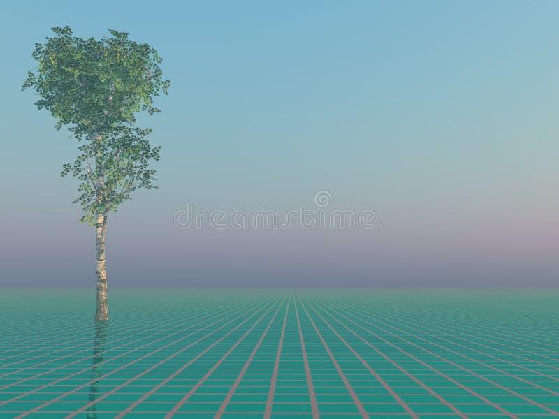 Árbol en horizonte libre illustration