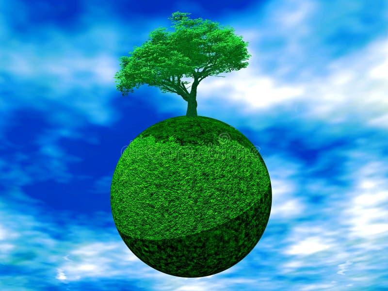 Árbol en la tierra libre illustration