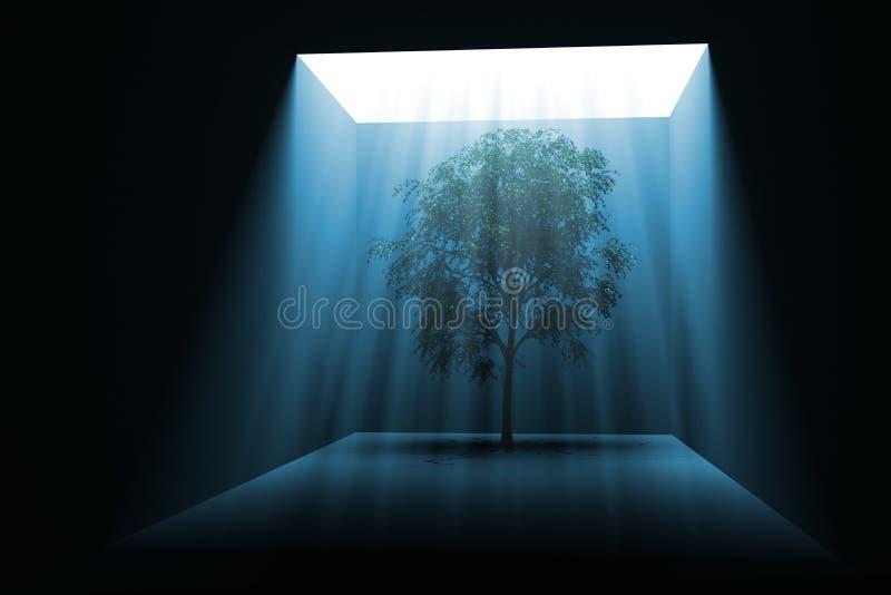 Árbol en luz libre illustration