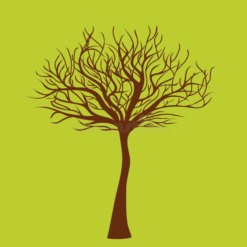 Árbol en verde ilustración del vector