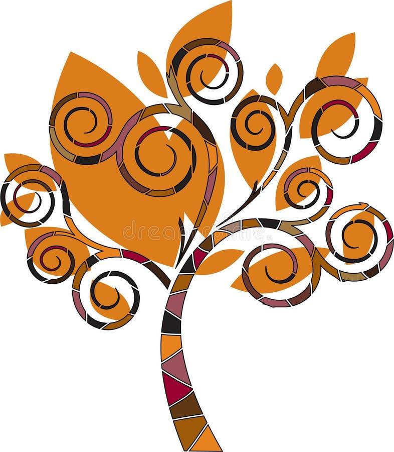 Árbol estilizado del diseñador ilustración del vector