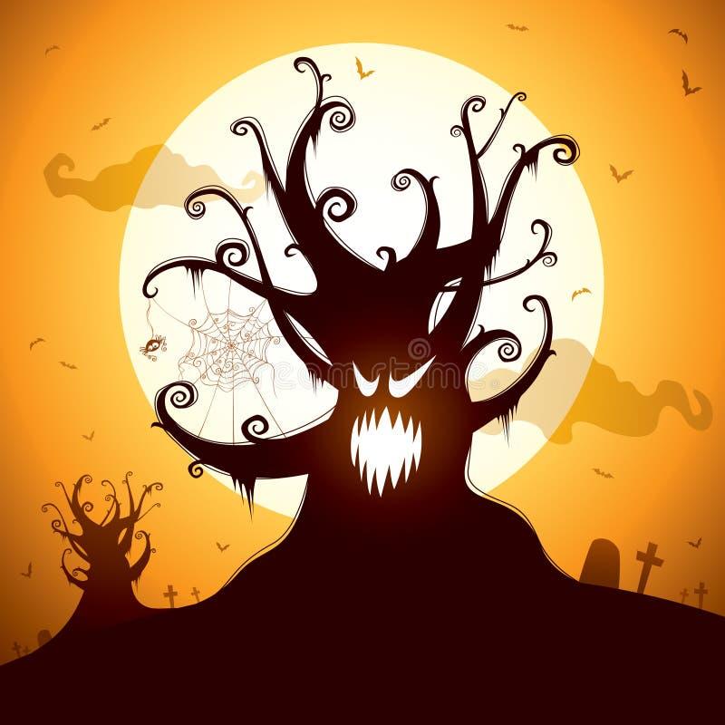 Árbol fantasmagórico ilustración del vector