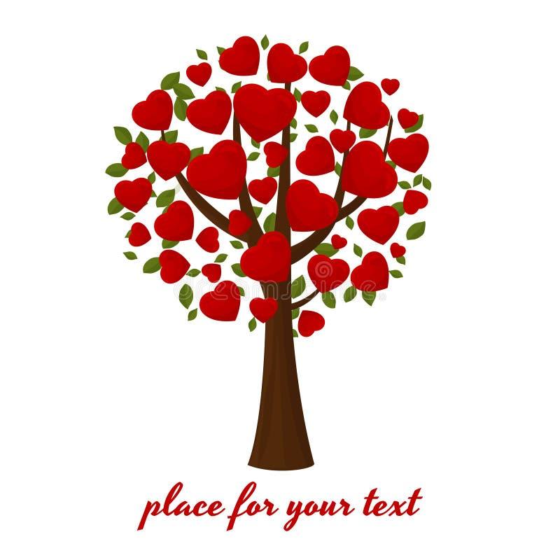 Árbol festivo con los corazones libre illustration