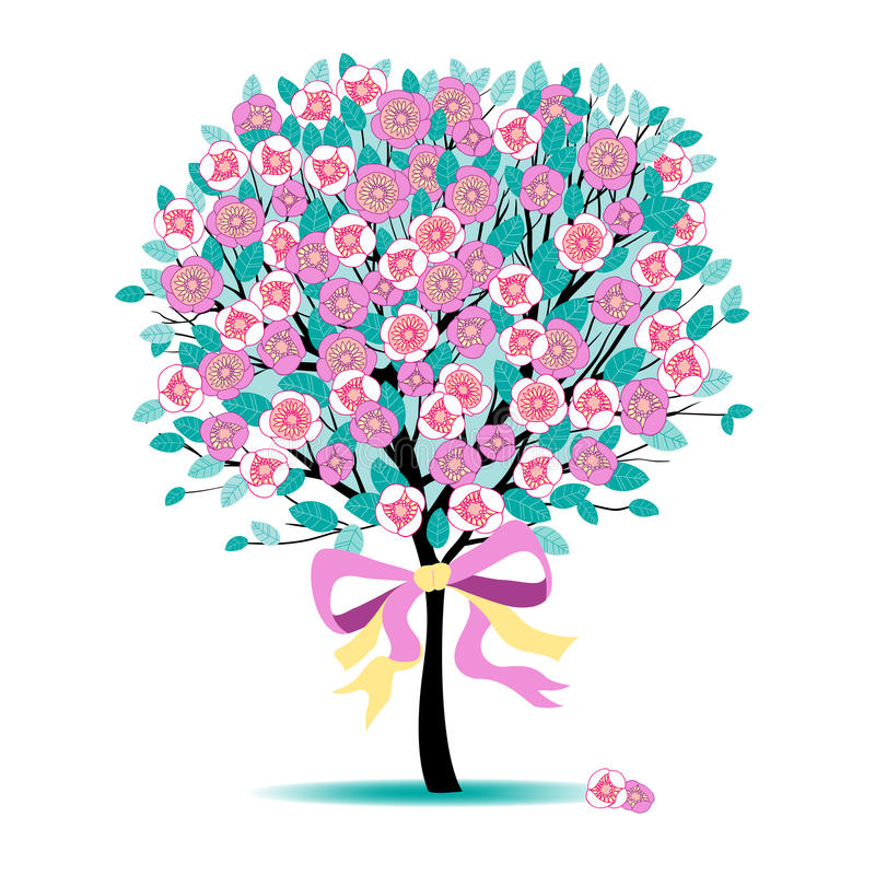 Árbol floral libre illustration