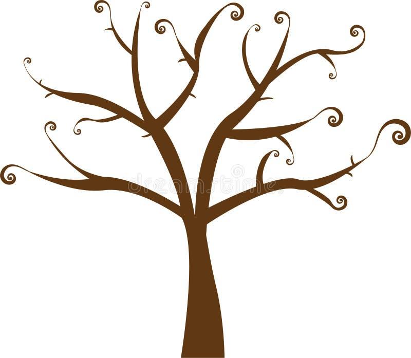 Árbol floral del vector hermoso ilustración del vector