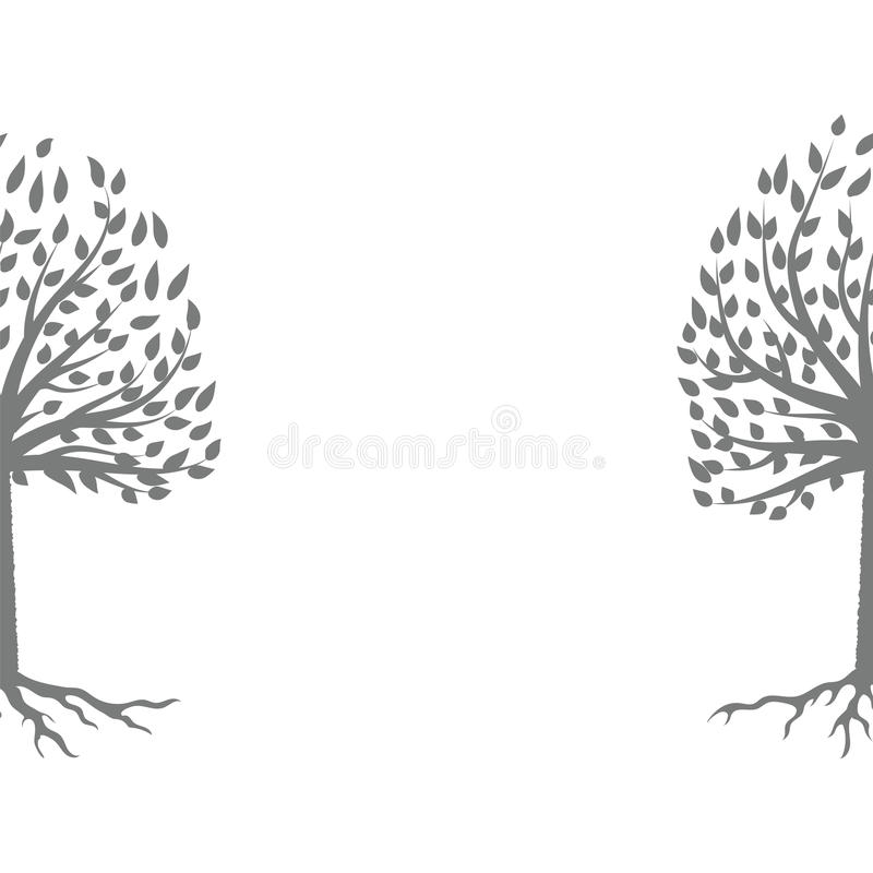 Árbol Gray Silhouette libre illustration