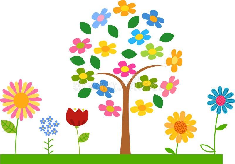 Árbol lindo de la flor ilustración del vector