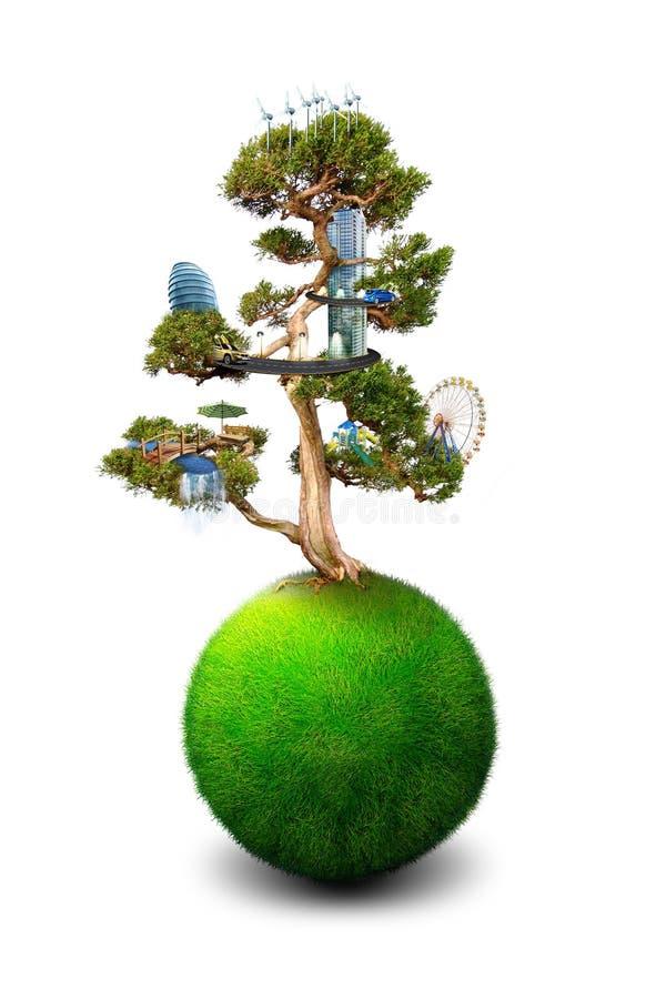 Árbol mágico ilustración del vector