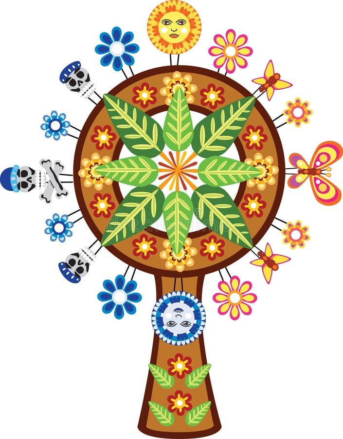Árbol mexicano de la vida libre illustration