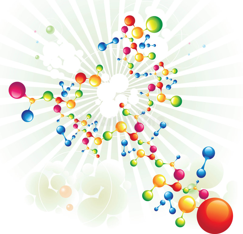 Árbol mezclado de la molécula libre illustration