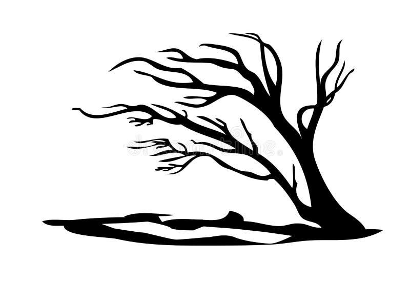 Árbol negro ilustración del vector