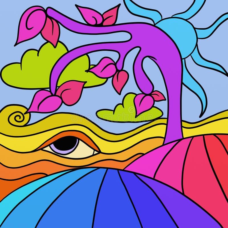 Árbol púrpura ilustración del vector