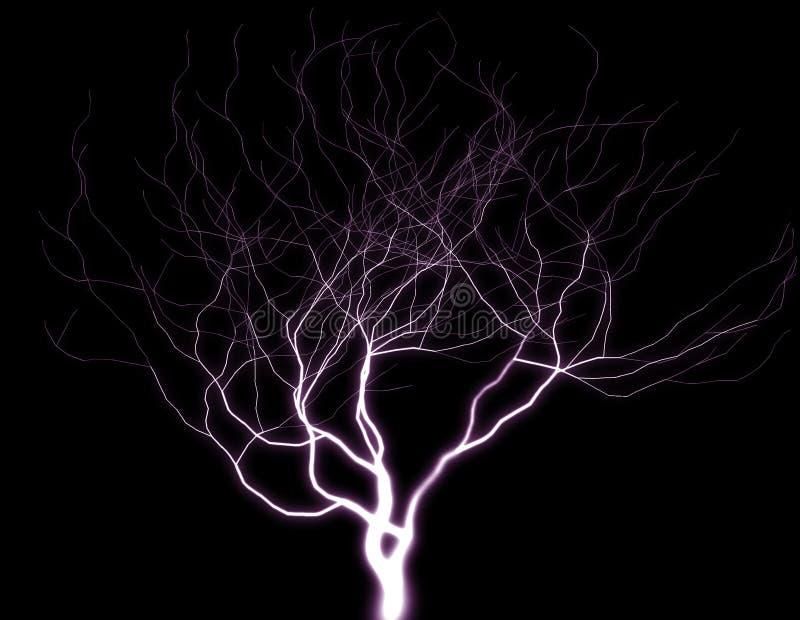 Árbol púrpura del relámpago libre illustration