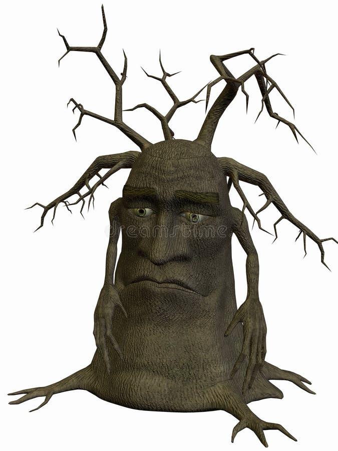 Árbol-Pobre yo stock de ilustración