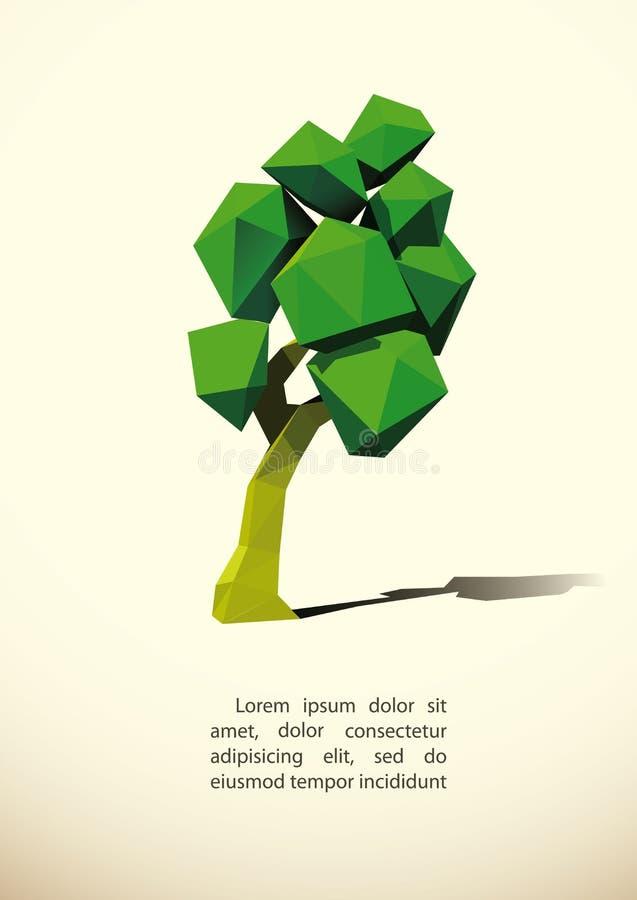 Árbol polivinílico inferior stock de ilustración
