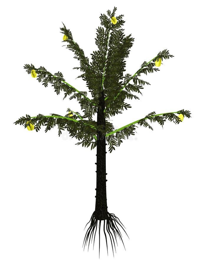 Árbol prehistórico del serli de Alethopteris - 3D rinden libre illustration