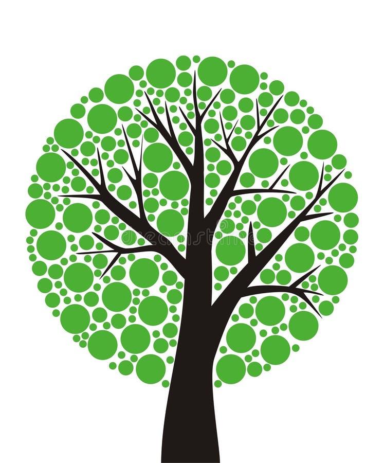 Árbol redondo ilustración del vector