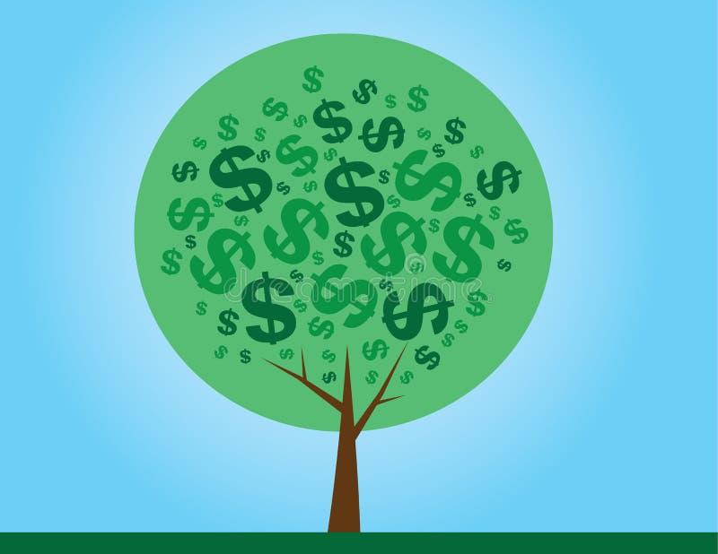 Verde del árbol del dinero stock de ilustración