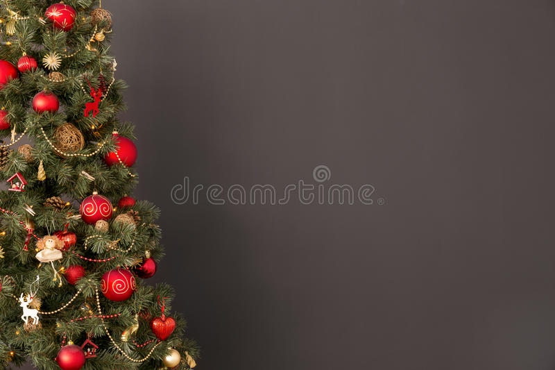Árbol rojo y de oro foto de archivo libre de regalías