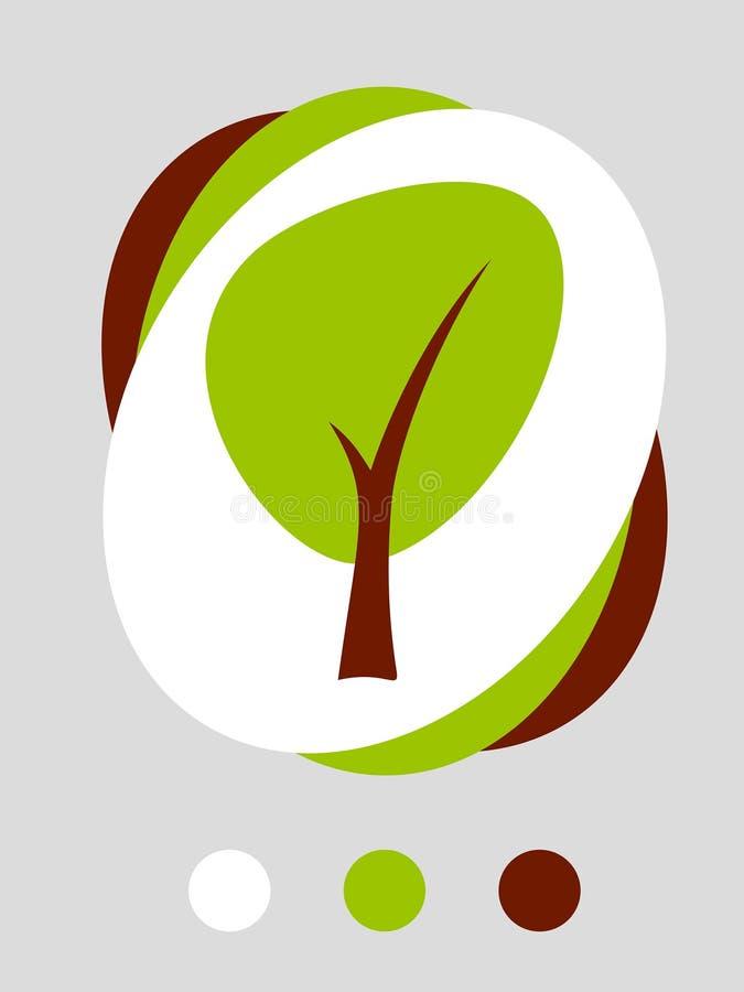 Árbol simple stock de ilustración