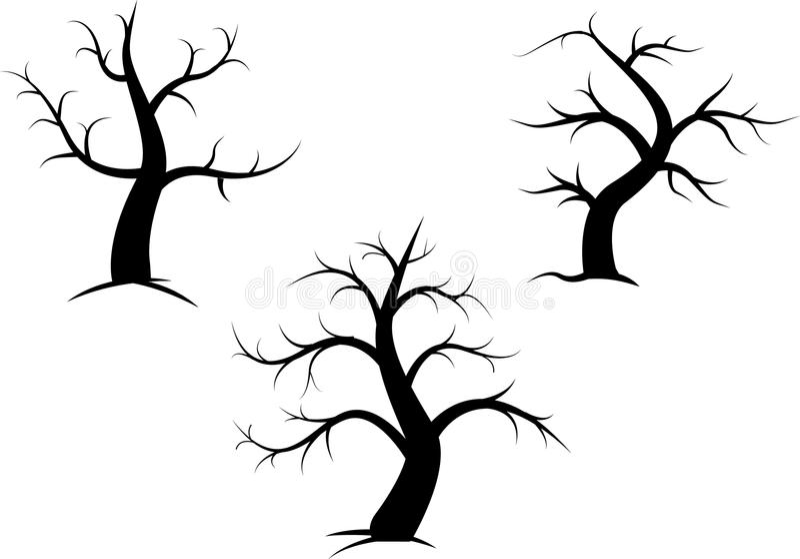 Árbol sin las hojas stock de ilustración