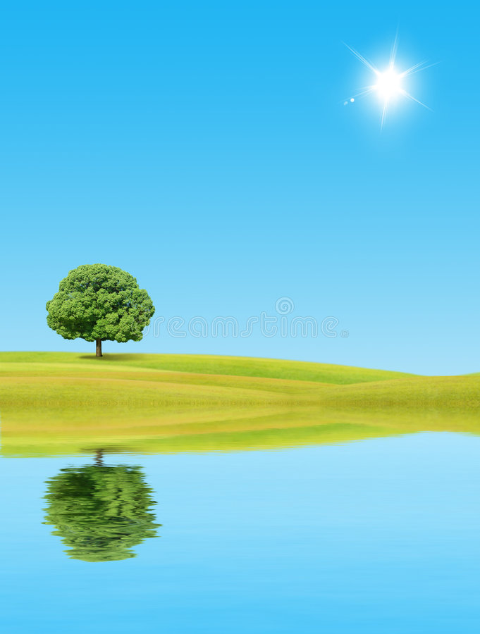 Árbol solo ilustración del vector