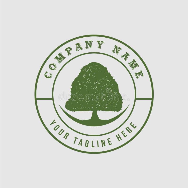 Árbol verde con el logotipo de las hojas Círculo del verde del árbol del logotipo círculo herbario de la hoja, ecología, natural ilustración del vector