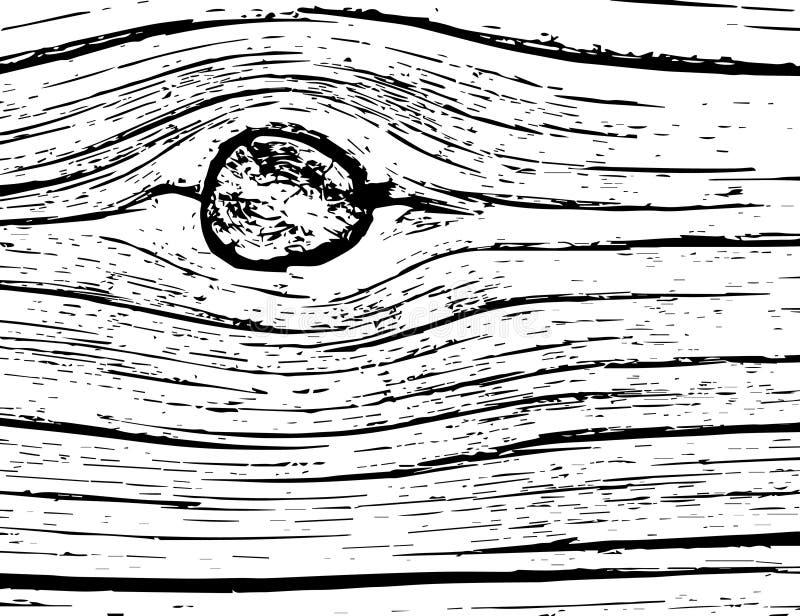 Árbol viejo con un nudo ilustración del vector