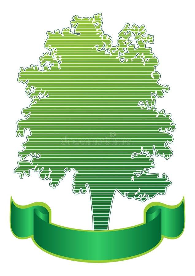 Árbol y cinta stock de ilustración