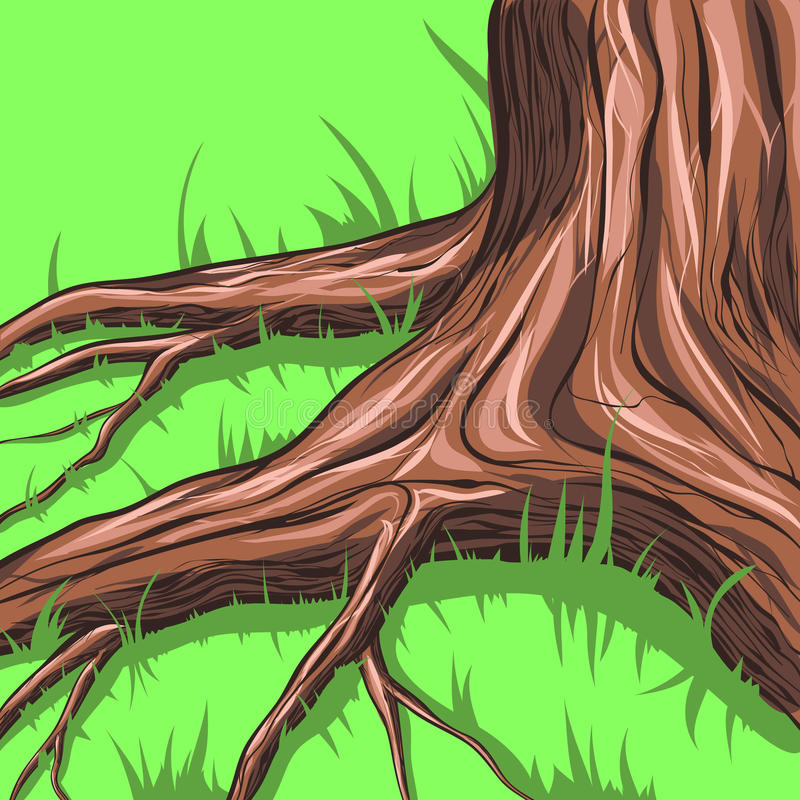 Árbol y raíces libre illustration
