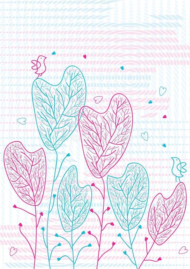 Árboles de amor de los pájaros libre illustration