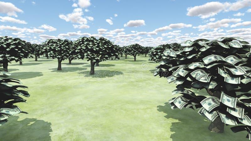 Árboles de la riqueza stock de ilustración