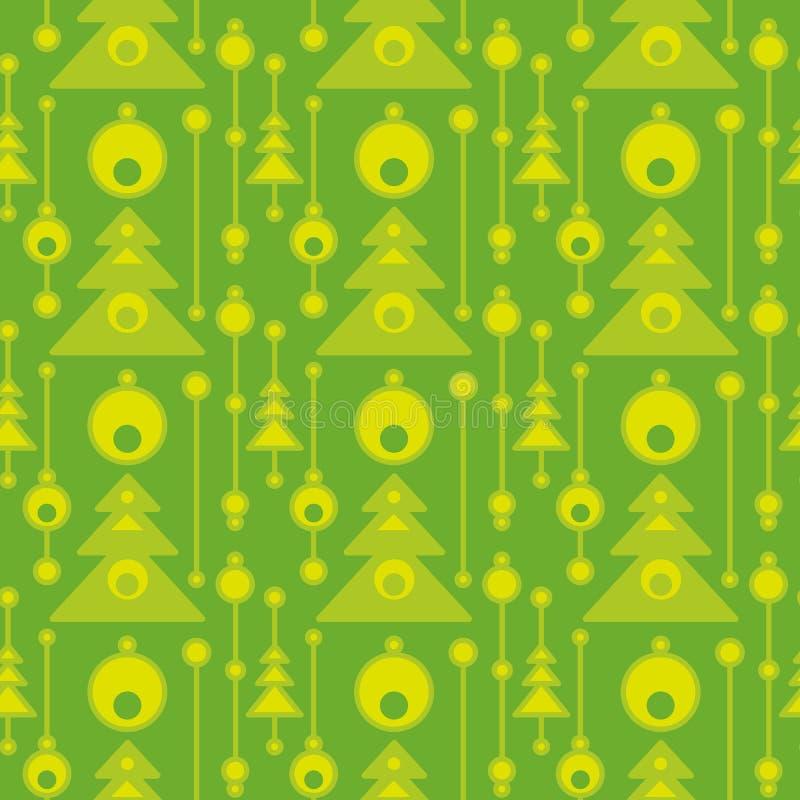Árboles de navidad abstractos en modelo inconsútil Ornamento plano geométrico para la materia textil, impresiones, papel pintado, libre illustration