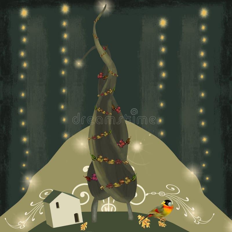 Árboles de navidad en amor imagen de archivo